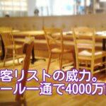 顧客リストの利用価値:メール一通で4000万円